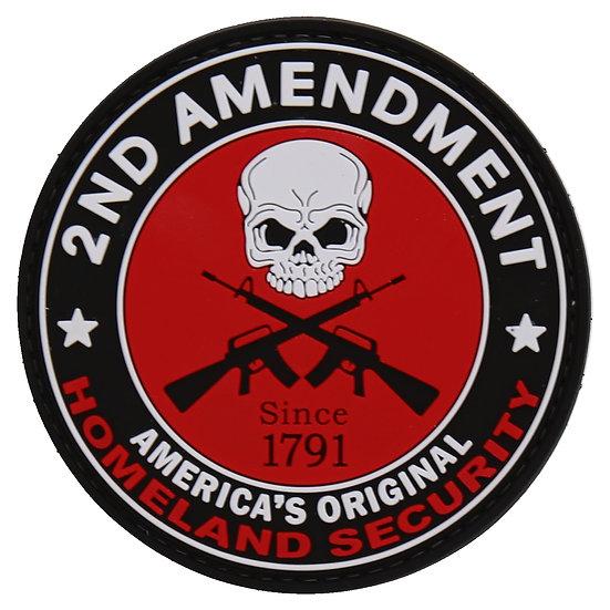 2A America's Original Homeland Security Rubber Morale Patch