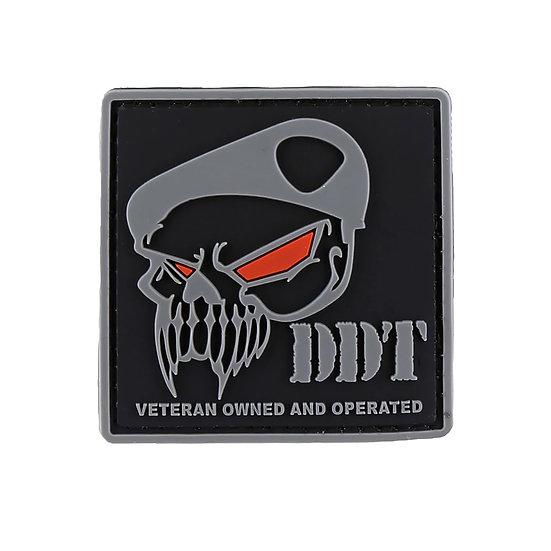DDT Skull Logo Rubber Morale Patch