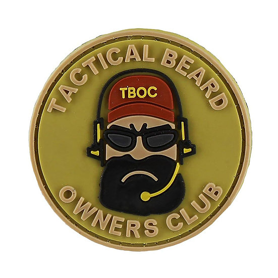 Beard Rubber Morale Patch - Limited Availability