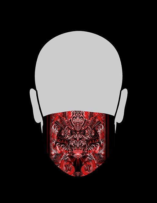 Red Samurai Mask