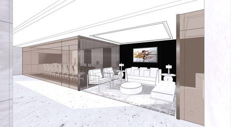 corporate interior design sketch by studiovn