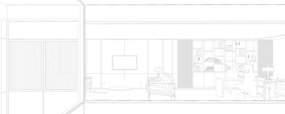 office design sketch by studiovn
