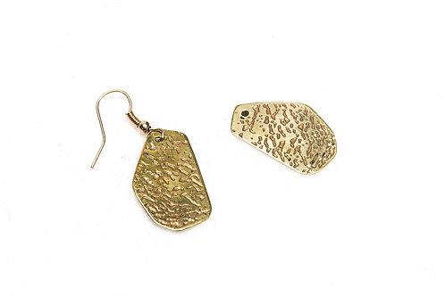 Tropical Brass Earrings