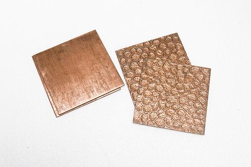 Square Copper Coasters