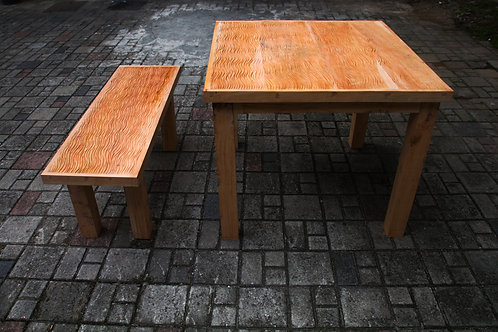 Table And Benches Lines
