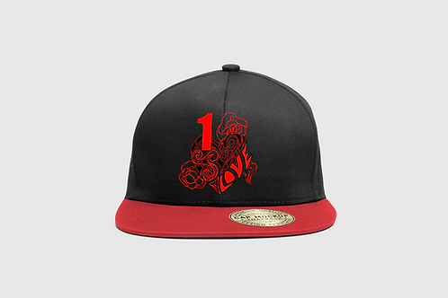 Snap Back 1 LOVE Red Black Logo