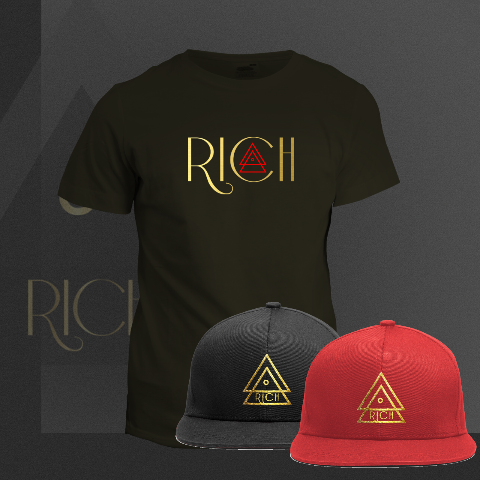 RICH BLACK T_RICH_RED_COMBO