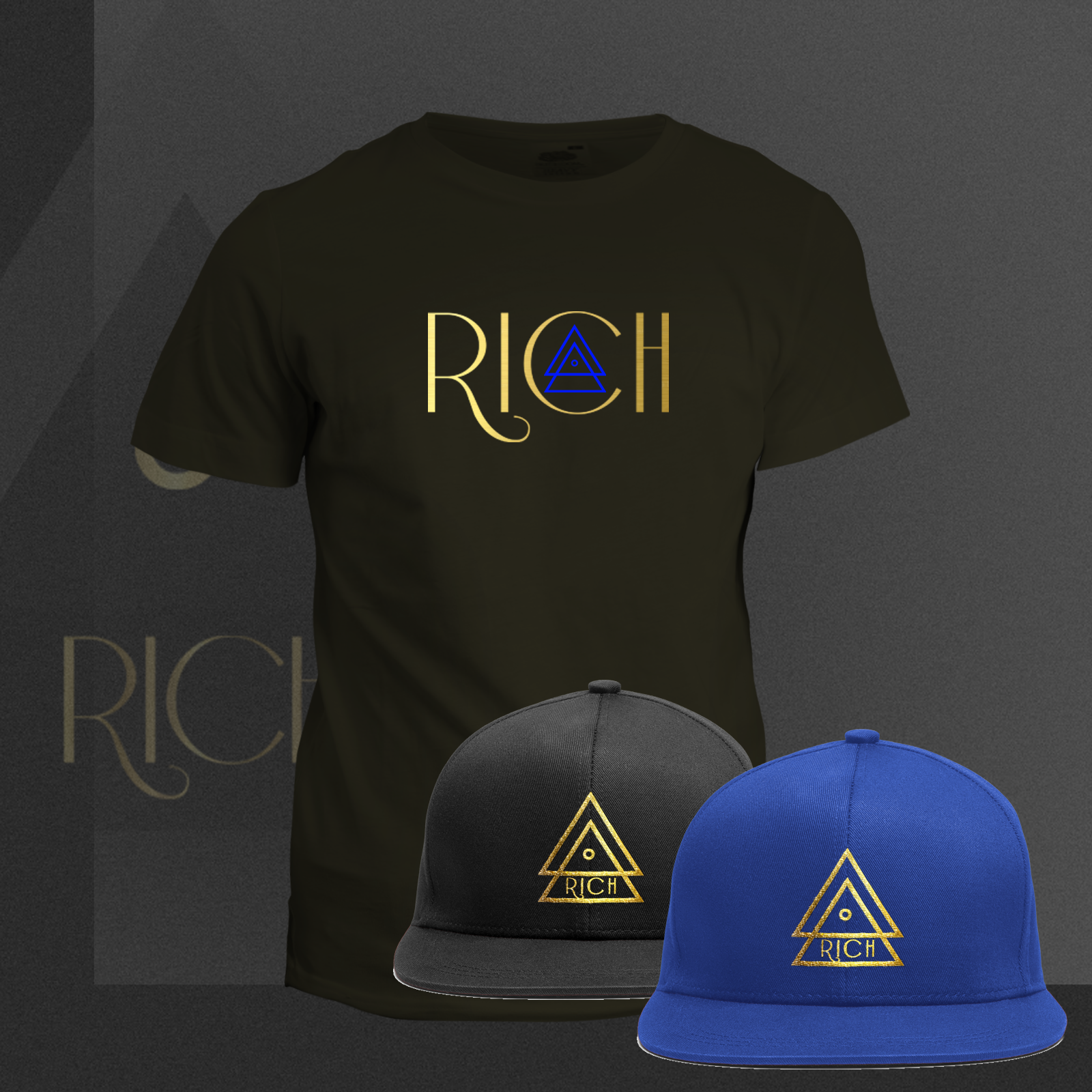 RICH BLACK T_Rich_BLUE_COMBO