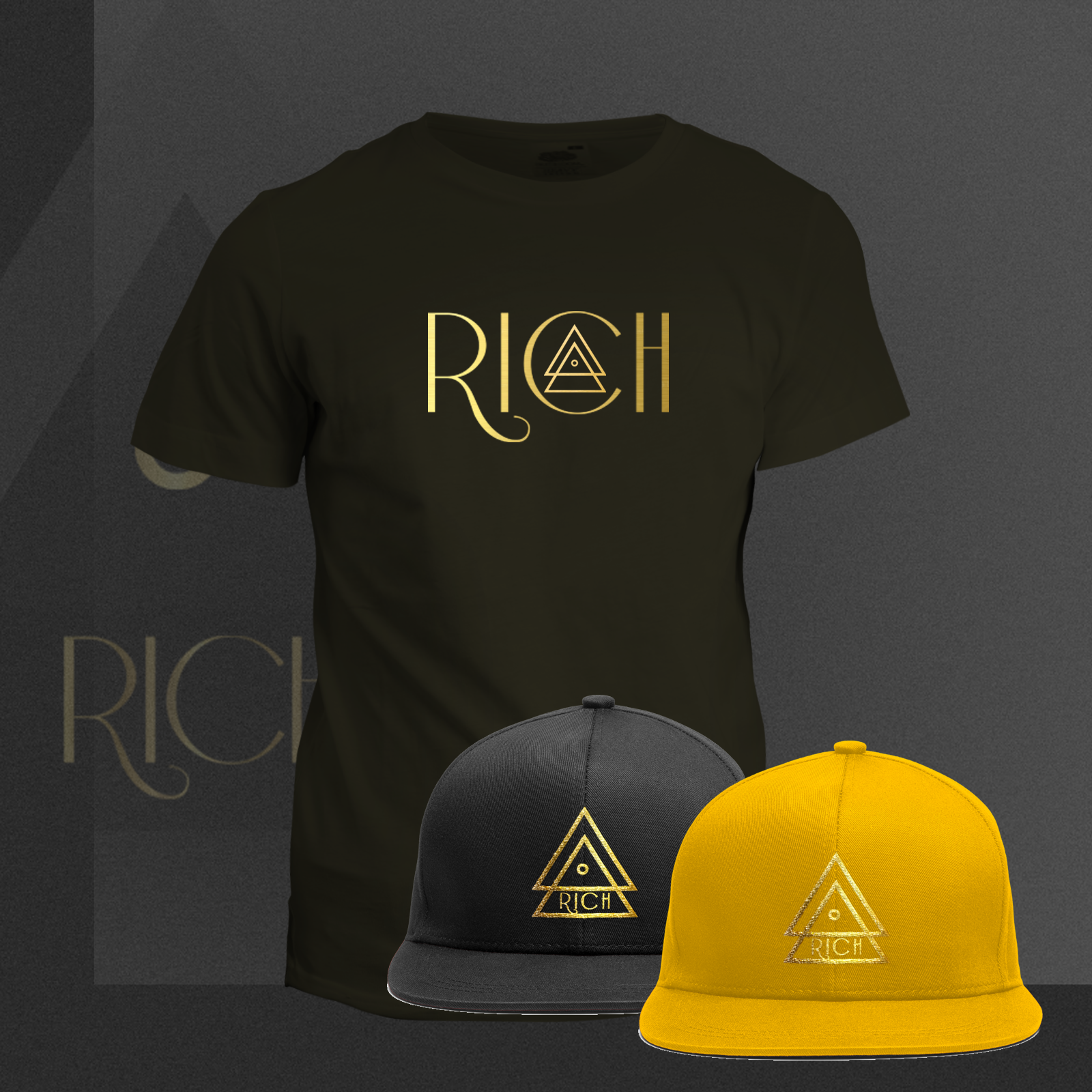 RICH BLACK T_Rich_GOLD_COMBO
