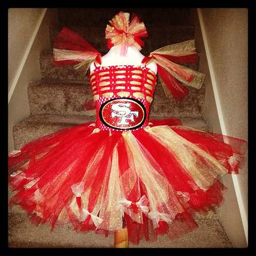 Red and Gold Niners Tutu Dress