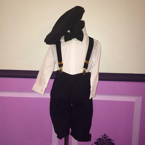 5 Piece Black Suspender Knickers Set