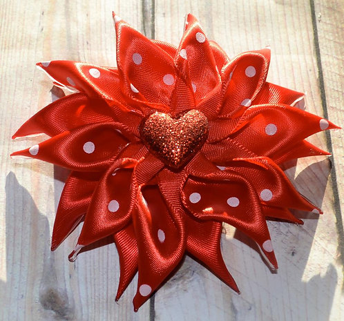 Red Heart Flower