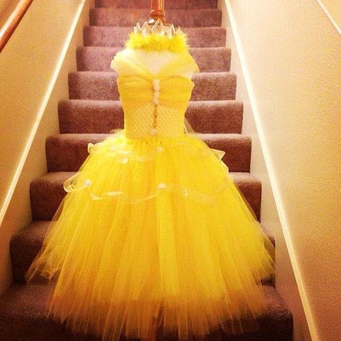 Deluxe Princess Belle's Elegant Beauty Tutu Dress