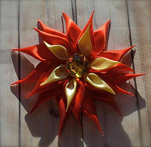 Red & Gold Double Layer Flower