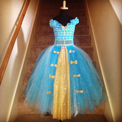 Madam Jordan's Turquoise Jewel Couture Tutu Dress