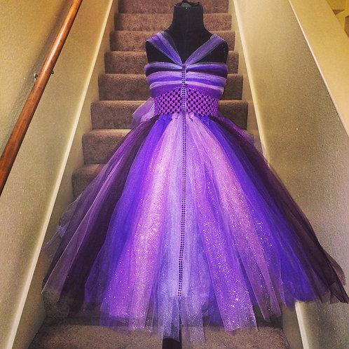 Purple Renaissance Tutu Dress Ankle Length
