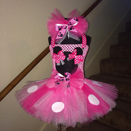 Annette's Minnie Mouse Tutu Dress with Puff Ears