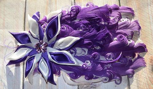 Purple & White Feather Flower