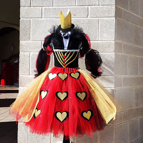 Deluxe Queen of HeartsTutu Dress