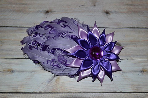 Purple Layers Feather Flower