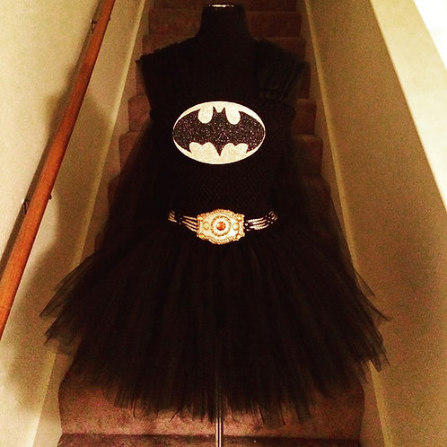 Boom Pow Batman Tutu Dress
