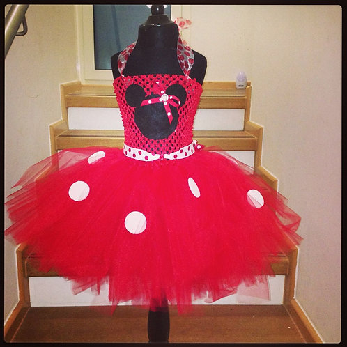 Ms Red Mousie Dots Tutu