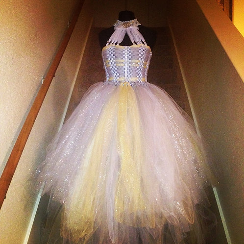 Madam Olivia's Silver Treasure Couture Tutu Dress