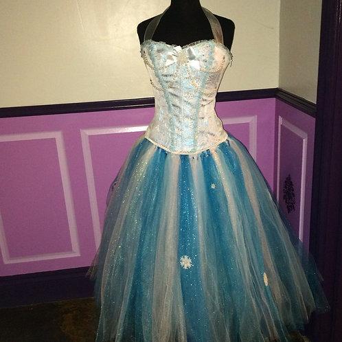 Frozen in Blue Corset Style Tutu Set