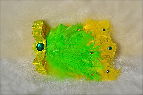 Lemon & Lime Feather Bow