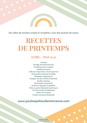 E-book de printemps - Avril | Mai 2021