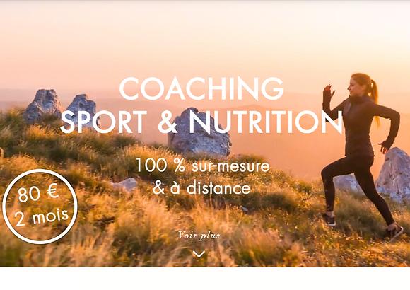 Coaching Sport & Nutrition | 2 mois | A distance