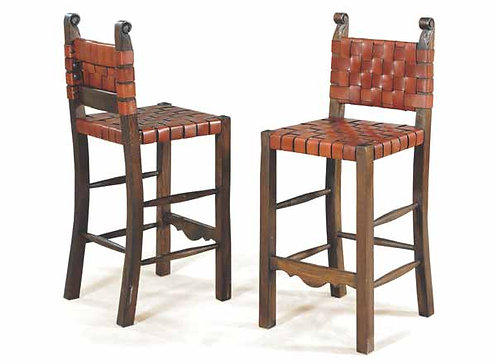 Taurino Leather Strap Barstool