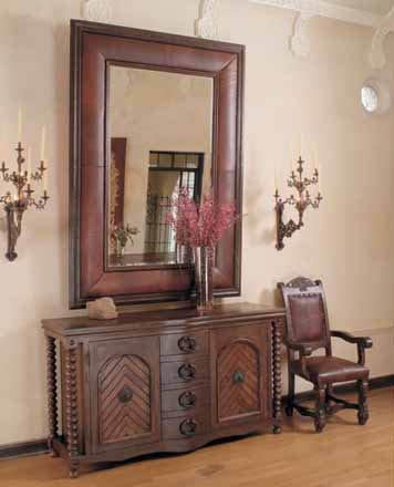 Nevada Leather Mirror