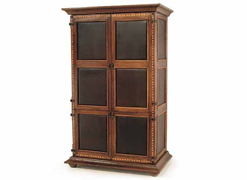 Nevada Leather Panel Armoire