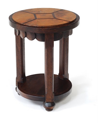 Copper Verdigris End Table