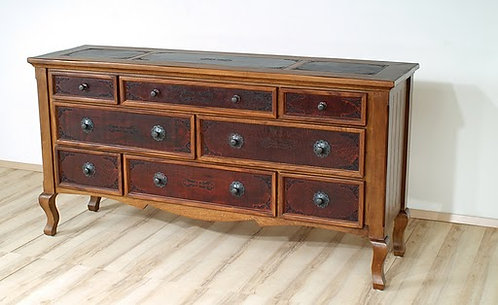 Francisco Federico Carved Leather Dresser