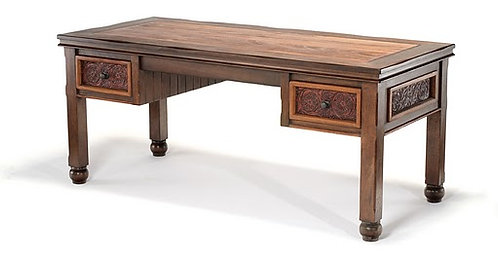 Francisco Federico Carved Leather Desk