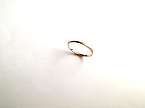 甲丸ダイヤモンドポイントリング
