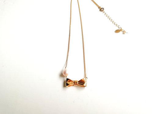 ribbon pearlネックレス