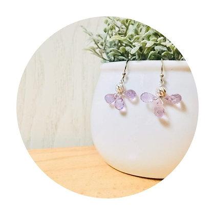 E036 紫 水 晶 天 使 耳 環 (華姐)