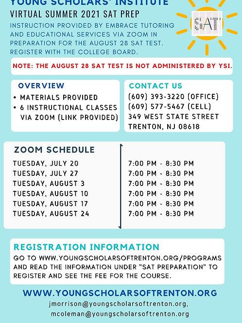 Virtual Summer 2021 SAT Prep