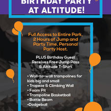 Birthday Party Advertisement