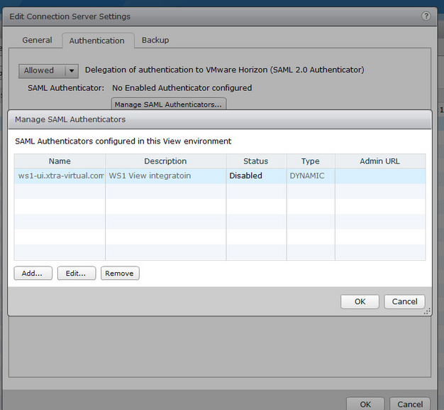 VMware Workspace one and horizon view integration