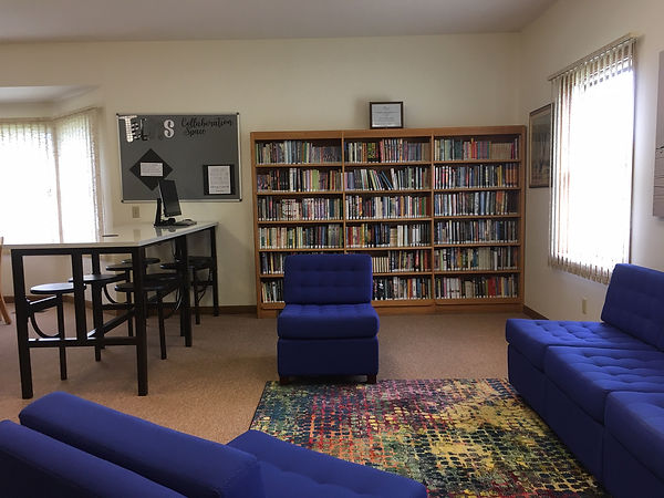 Wolcott Library's new teen collaboration space.