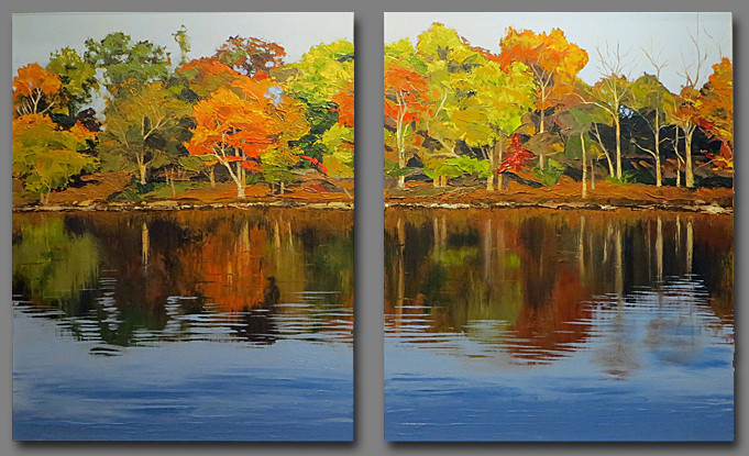 Rockland Lake Diptych