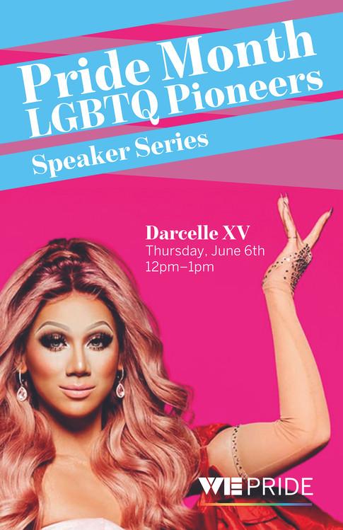 WE Pride Speaker Series Poster
