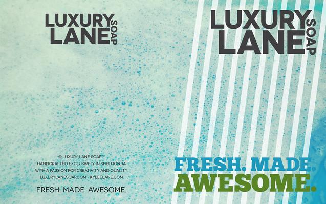 Luxury Lane Soap Brochure Outside Spread