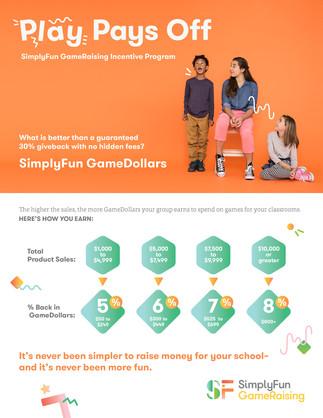 SimplyFun Gameraising Incentive Flyer