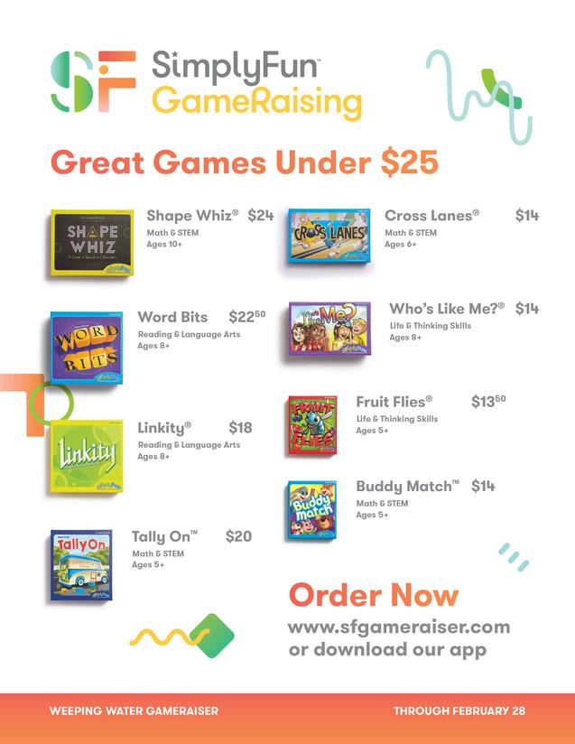 SimplyFun Gameraising Flyer