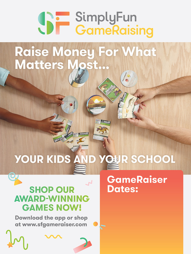 SimplyFun Gameraising Game Night Poster